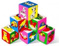и7 Мякиш кубики Предметы 6 шт 001
