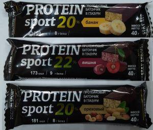 Мюсли батончик Protein Sport Вишня в глаз 22% (173ккал,9г белка) 40,0
