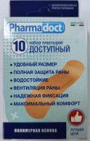 Лейкопластыри Фармадокт Доступный 2х7см №10 телесн, полимерн осн, водост