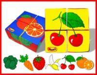 и7 Мякиш кубики Ягоды,Фрукты,Овощи 4 шт 337