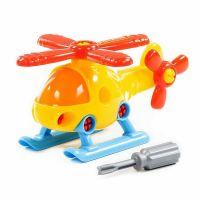 Конструктор Вертолет , 16 деталей,  отвертка 78223