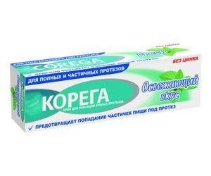 Корега Освежающий вкус крем экстра сильн. фикс. зубн.протезов 40 г