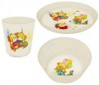 и9 Набор дет.посуды Bears (тарелка 450мл миска 430мл стакан 270мл) LA4115