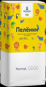 Пеленки Амелия впитывающие 60х90см №5 д/детей (с рисунком)
