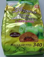 Пряники Петродиет Яблоко б/сах на фруктозе  340,0