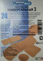 Лейкопластыри Фармадокт (Универсальный №3) №24 телесн, неткан, разн размер