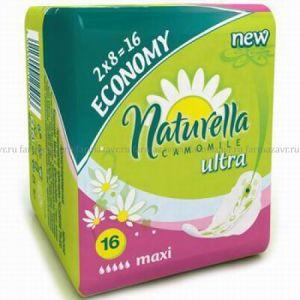 Прокладки Натурелла Классик Макси ромашка с крыльями №16
