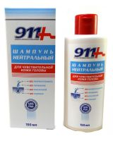 911 Шампунь Нейтральный д/чувств кожи головы б/парабенов 150 мл