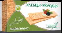 Хлебцы Молодцы. Лайт вафельные с экст. зеленого чая 70,0