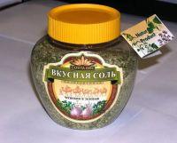 Соль Вкусная соль с чесноком и зеленью п/банка 400,0