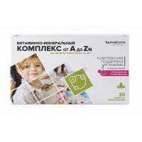 Витам.-мин комплекс от А до Zn для Детей 7-14 лет жев. табл  №30 БАД