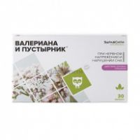 Комплекс Здравсити Валериана и Пустырник капс. 395 мг №30 БАД