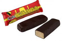 Халва Арахисовая в шоколадной глазури на фруктозе 68,0 (батончик) (012)