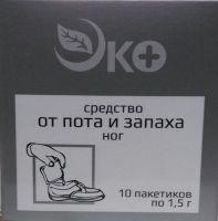 """Средство от пота и запаха ног """"Эко"""" пак. 1,5 №10"""