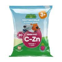Витам. Ми-Ми-Мишки Иммуно (C и Zn) пектин жев мишки №20 (виногр) c3-х БАД