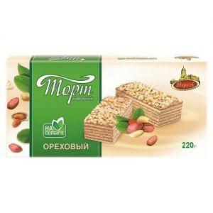 Торт Вереск вафельный на сорбите Ореховый 220,0