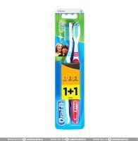 Зубная щетка ORAL-B 1-2-3 Натуральная свежесть 40 сред.жестк. 1+1 беспл.